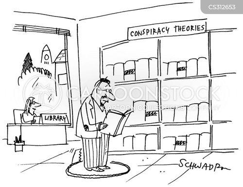 conspiring cartoon