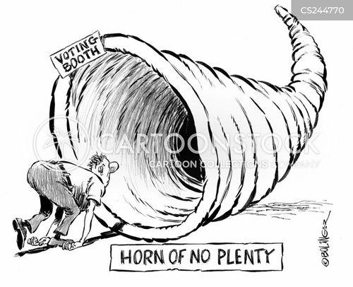 horn of plenty cartoon