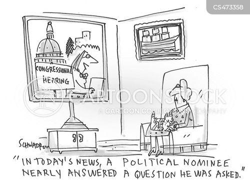 media conference cartoon