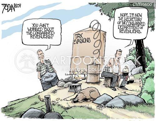evading tax cartoon