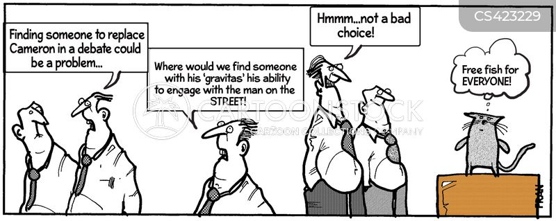 leaders debate cartoon