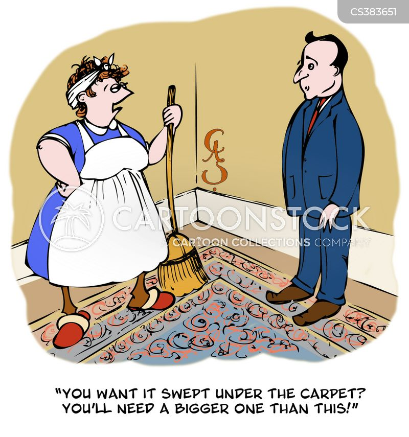 Sweeping Things Under The Rug Cartoons And Comics Funny