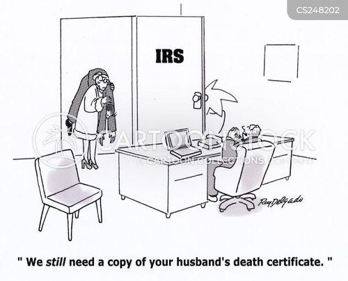 death certificates cartoon