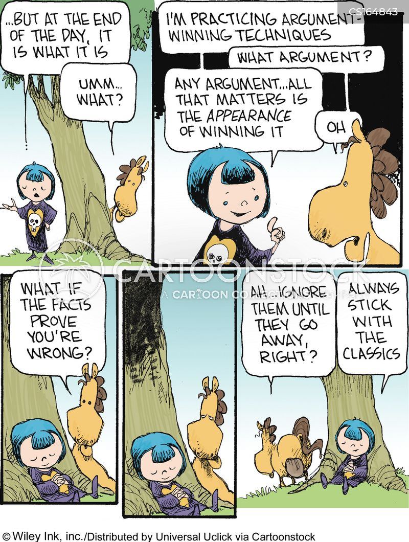 argumentative cartoon