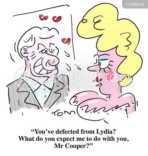 defection cartoon