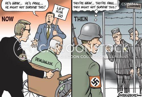 concentration camp cartoon