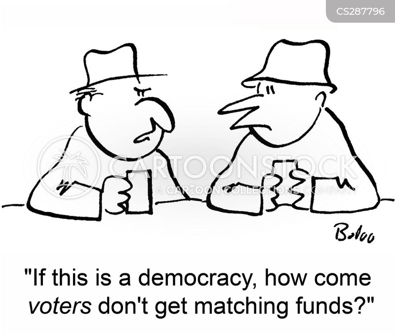 matching funds cartoon