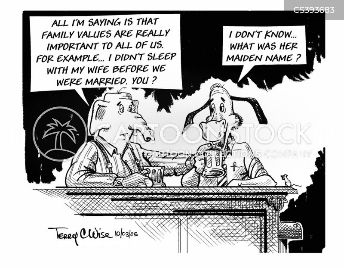 family values party cartoon