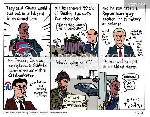 bush tax cuts cartoon