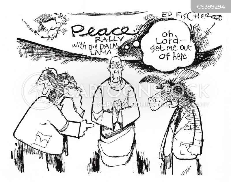 peace rally cartoon