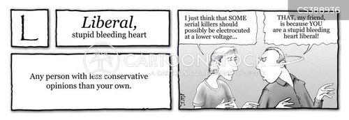 political left cartoon
