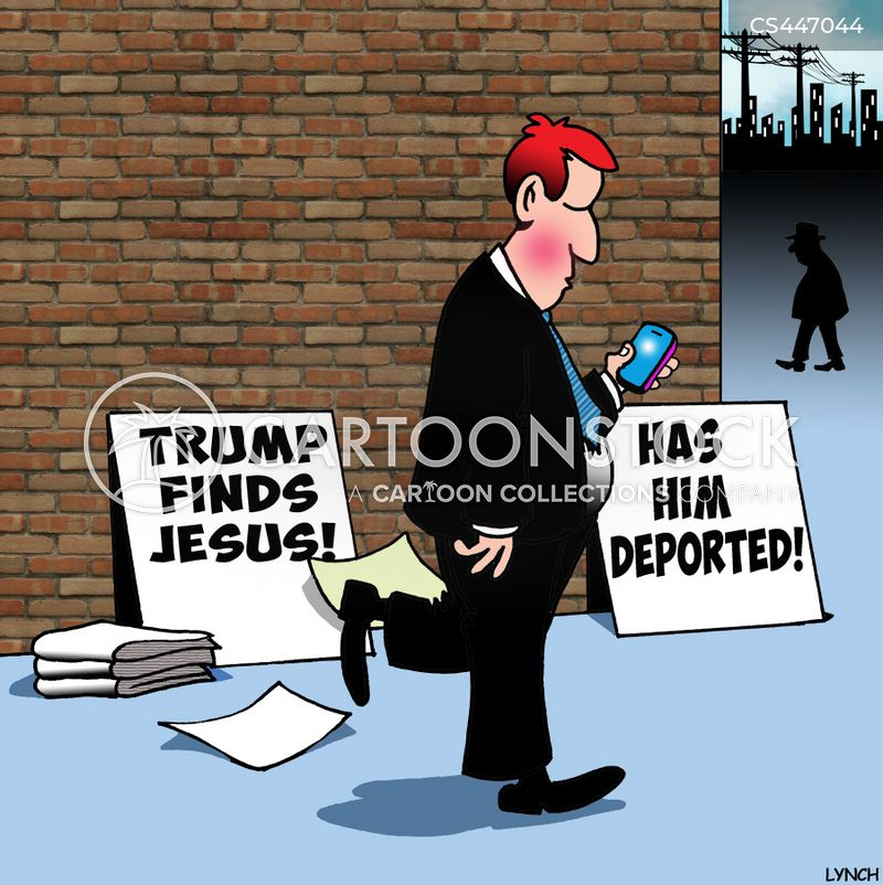 deporting cartoon