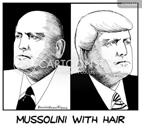 mussolini cartoon