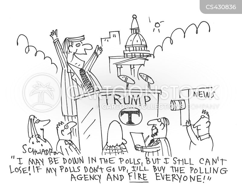 election polls cartoon