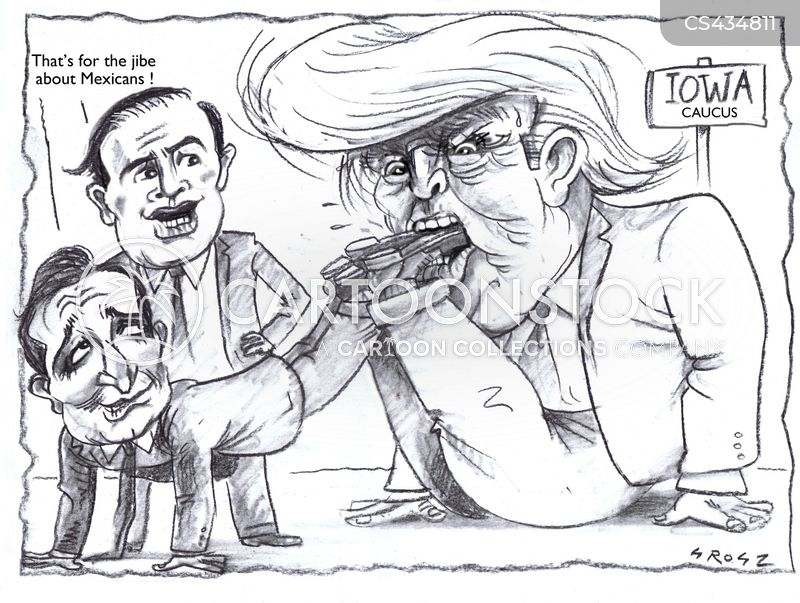 caucus results cartoon