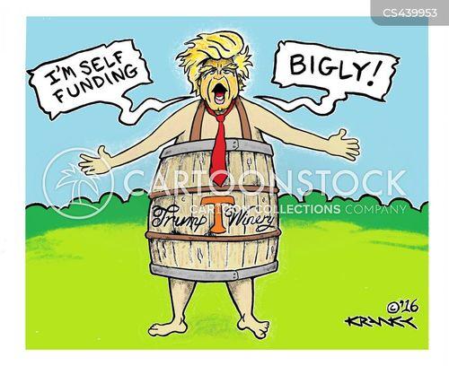 us presidential race cartoon