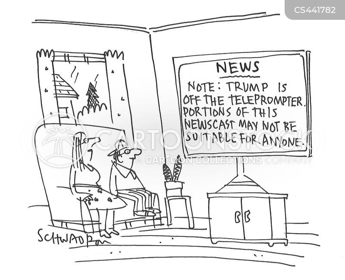 trump speech cartoon