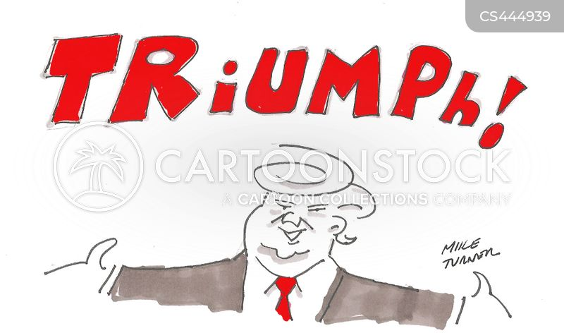 triumphant cartoon