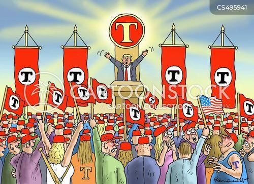 political rally cartoon
