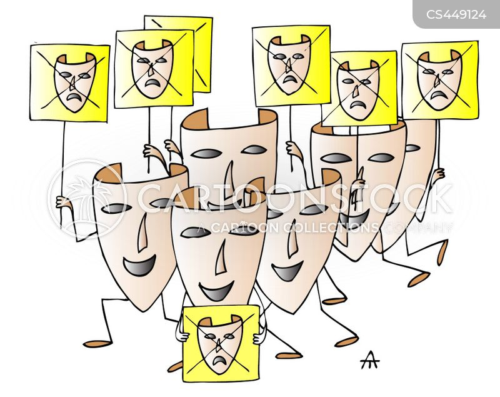 comedy mask cartoon