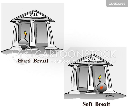 soft brexit cartoon