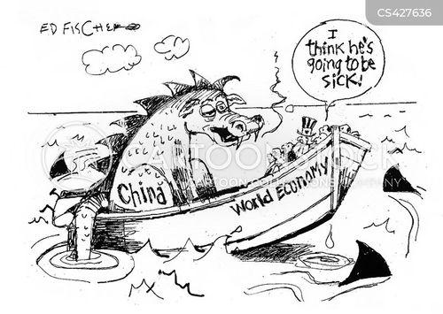 chinese markets cartoon