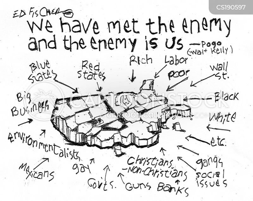 political divide cartoon