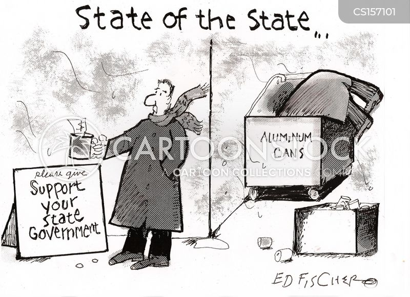 state deficit cartoon