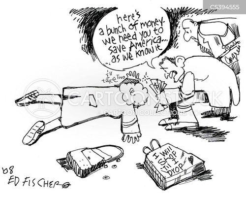 rebate check cartoon