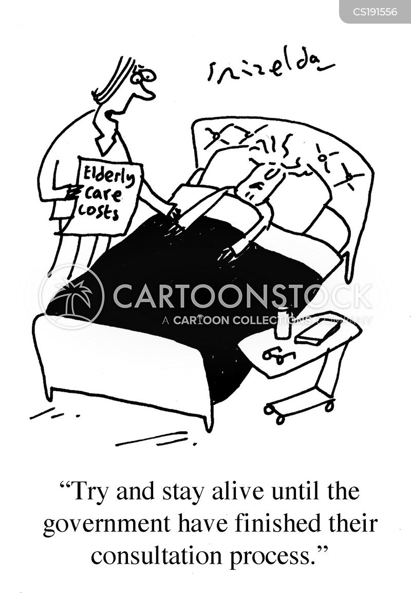 care homes cartoon