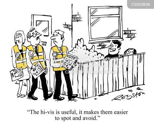 electioneering cartoon