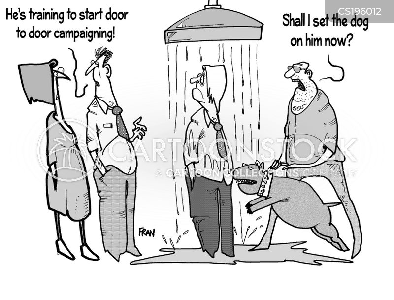 doorstep cartoon