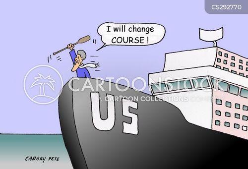 changing direction cartoon