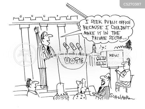 political canditate cartoon