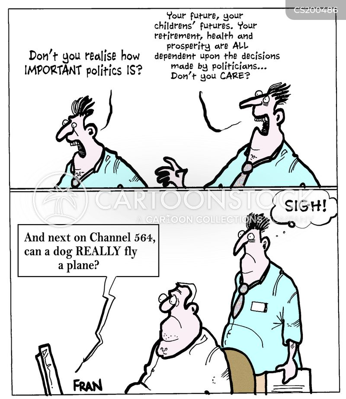 election debate cartoon