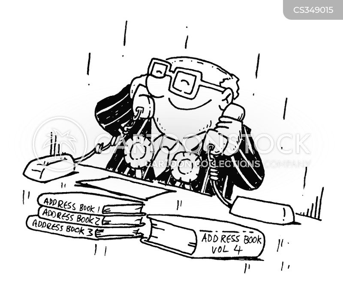 address book cartoon