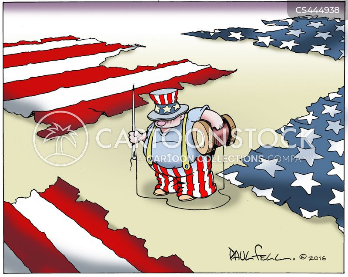 blue state cartoon