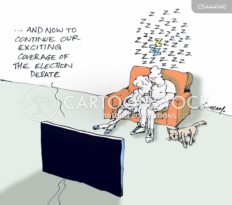 televised debate cartoon