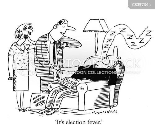 party political broadcast cartoon