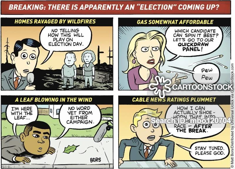 press attention cartoon