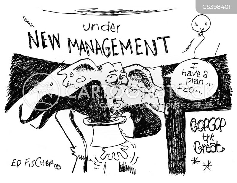 new management cartoon