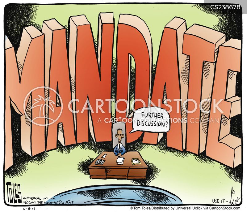 Mandate Cartoons and Comics - funny pictures from CartoonStock