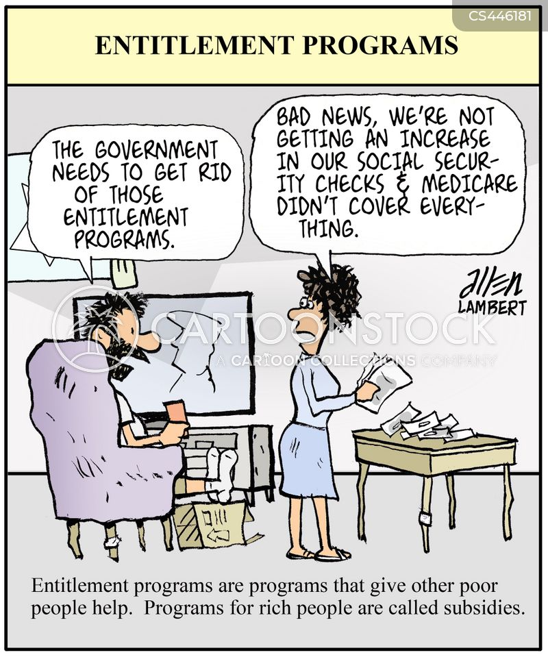 entitlement program cartoon