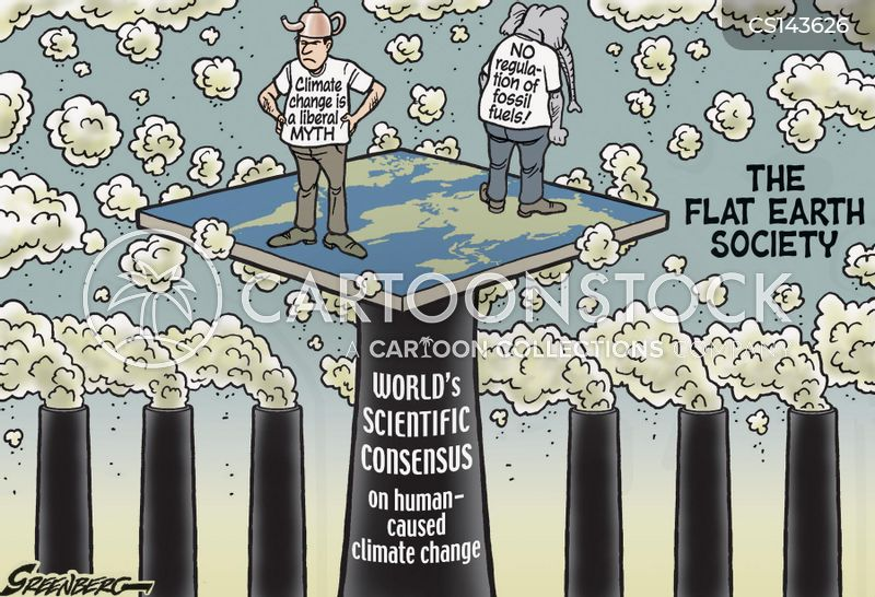 climate denier cartoon