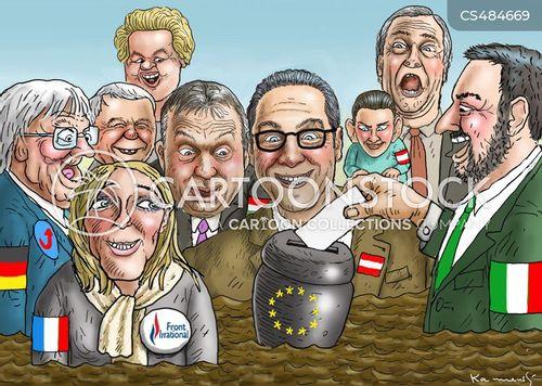 european elections cartoon