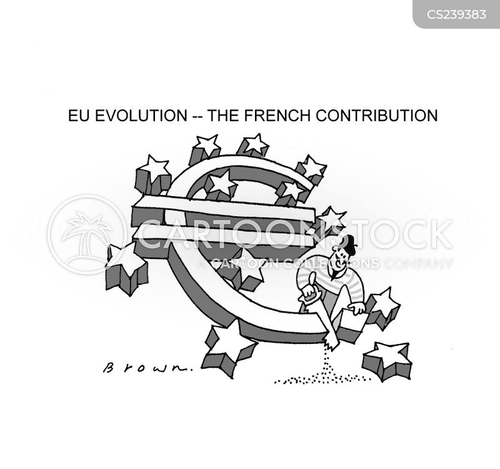 euro currency cartoon