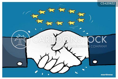 economic agreements cartoon