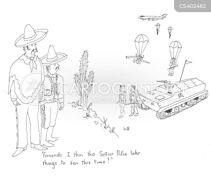 invading forces cartoon
