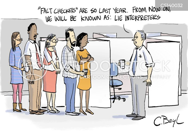 fact-checker cartoon