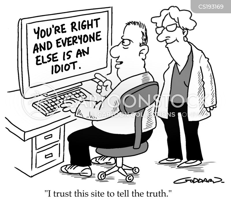 speaking truth cartoon